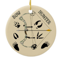 Hunter Gifts, Bow Hunting, Archery Ceramic Ornament