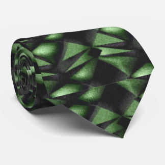 Hunter Green Abstract Tie
