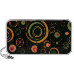 Hunter Green and Peach Playful Retro Circles Notebook Speakers
