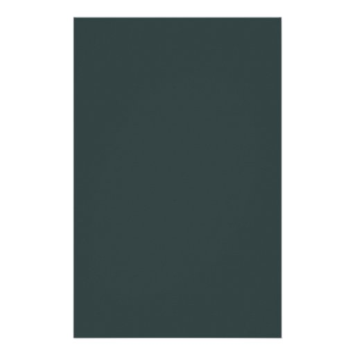 Hunter Green Background. Chic Fashion Color Trend Stationery
