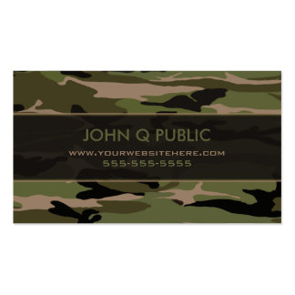 Hunter Green Camo Pattern Business Cards