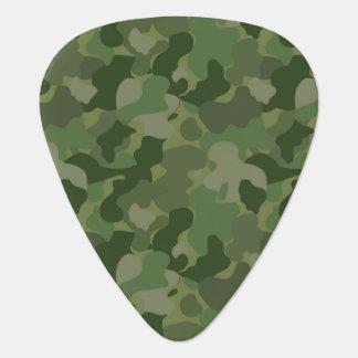 Hunter Green Camouflage Guitar Pick