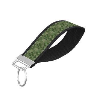 Hunter Green Camouflage Wrist Keychain