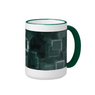 Hunter Green Cyber Glow Ringer Mug