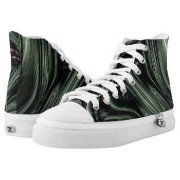 Hunter Green Digital High-Top Sneakers