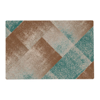 Hunter Green Distressed Effect Chenille Modern Placemat