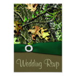 Hunter Green Hunting Camo Wedding RSVP Cards Personalized Invites
