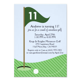 Hunter Green Let's Par-Tee Miniature Golf Birthday Card