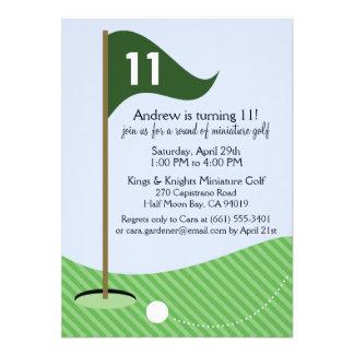 Hunter Green Let's Par-Tee Miniature Golf Birthday Invite