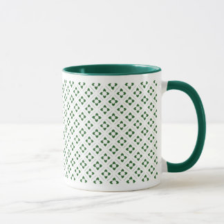 Hunter Green Lotus Square Mug