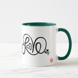 Hunter Green Love Ringer Mug w/ KP Logo