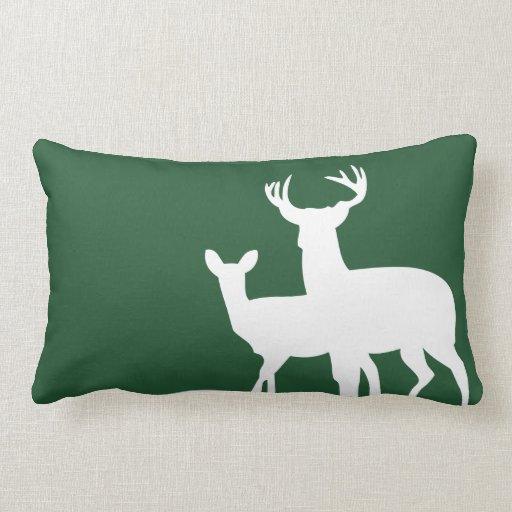 Hunter Green Male Female Deer Pillow Zazzle