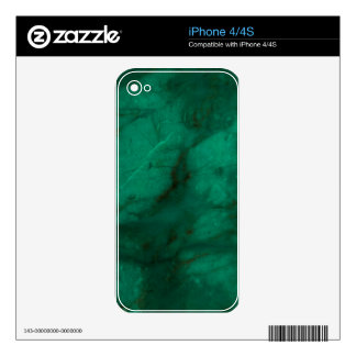 Hunter Green Marble iPhone 4S Decal