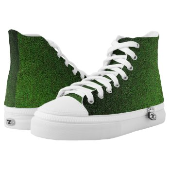 Hunter Green Shimmer High-Top Sneakers