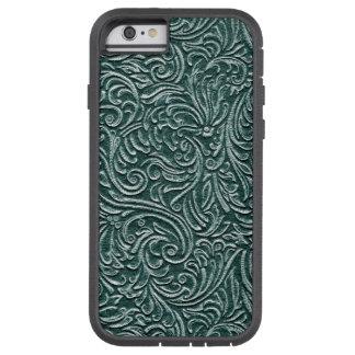 Hunter Green Vintage Tin Tile Look Tough Xtreme iPhone 6 Case