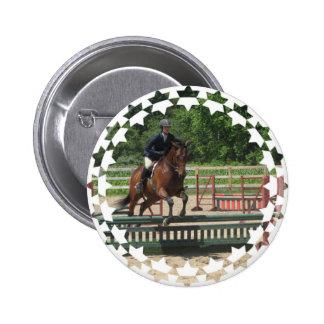 Hunter Horse Jumping Button