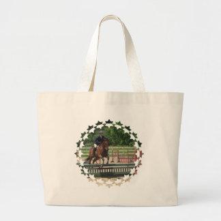 Hunter Horse Jumping Canvas Bag