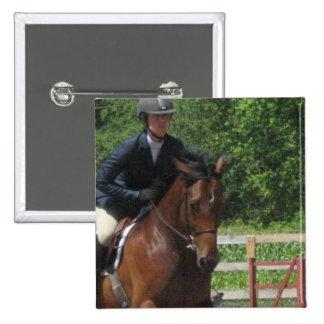 Hunter Horse Jumping Pin