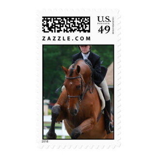 Hunter Horse Show Postage Stamp