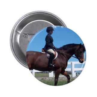 Hunter Horse Show Round Button