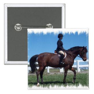 Hunter Horse Show Square Pin