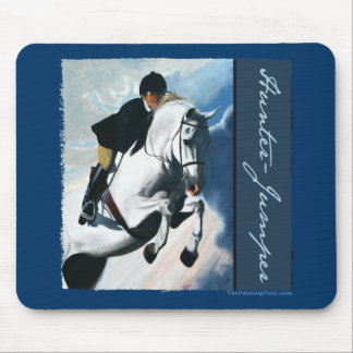 Hunter Jumper Acrylic Painting Mouse Pad