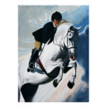 Hunter Jumper Acrylic Painting Posters