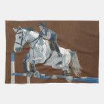 Hunter/Jumper Dapple Grey Horse Kitchen Towel