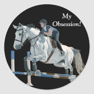 Hunter/Jumper Equestrian Classic Round Sticker