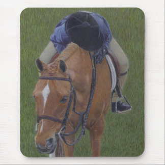 Hunter Jumper Equestrian Rider and Pony Mouse Pad
