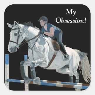 Hunter/Jumper Equestrian Square Sticker
