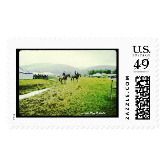 HUNTER-JUMPER EVENT Postage STAMP by ALXSw