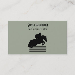Equine business cards templates zazzle hunter jumper horse and rider silhouette business card colourmoves