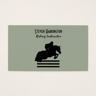 Hunter Jumper Horse and Rider Silhouette Business Card