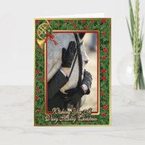 Hunter Jumper Horse Blank Christmas Card