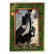 Hunter Jumper Horse Blank Christmas Card