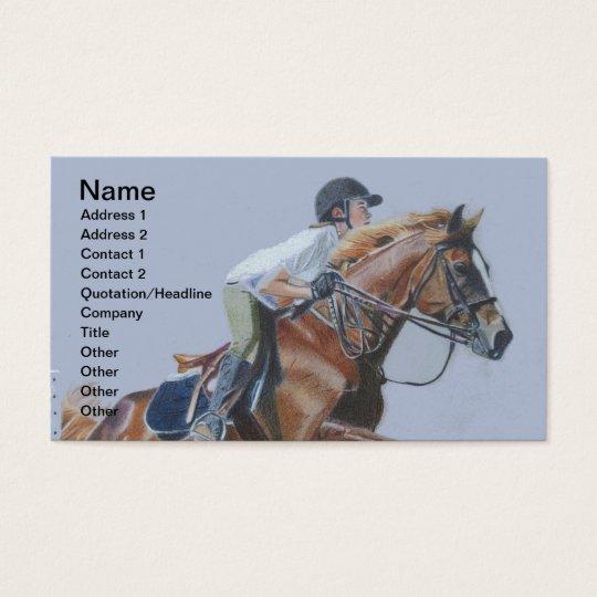 Hunter/Jumper Horse Business Card