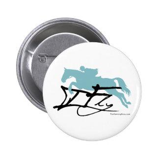 Hunter Jumper Horse Button