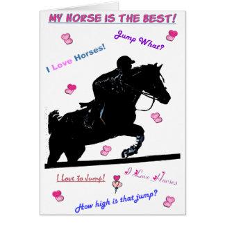 Hunter Jumper Horse Card