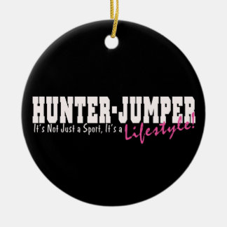Hunter Jumper Horse Ceramic Ornament