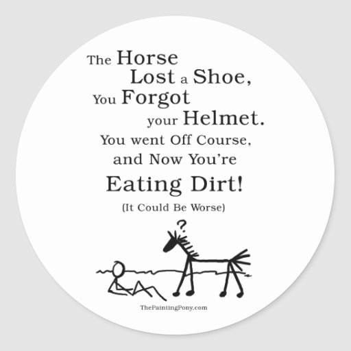 Hunter Jumper Horse Classic Round Sticker