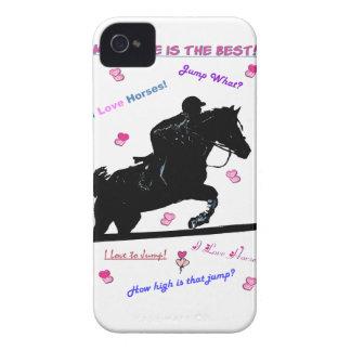 Hunter Jumper Horse Doodle Blackberry Case-Mate Ca iPhone 4 Case