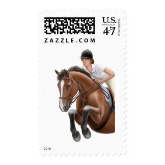 Hunter Jumper Horse Equestrian Postage Stamps
