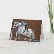 Hunter/Jumper Horse Holiday Card