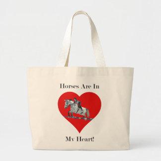 Hunter Jumper Horse in Heart Bags