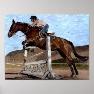 Hunter/Jumper Horse in Training Art Print