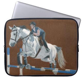 Hunter/Jumper Horse Laptop Sleeve