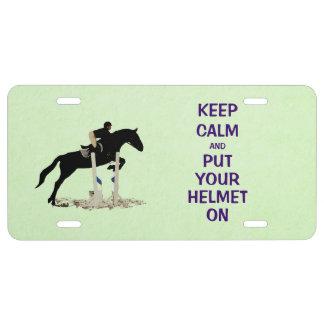 Hunter Jumper Horse License Plate