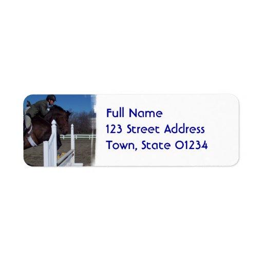 Hunter Jumper Horse Mailing Labels