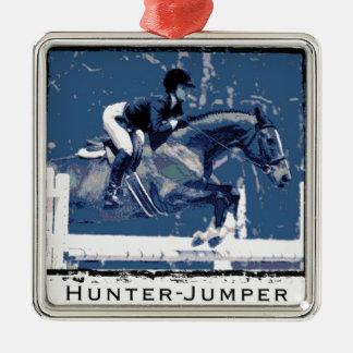 Hunter Jumper Horse Metal Ornament